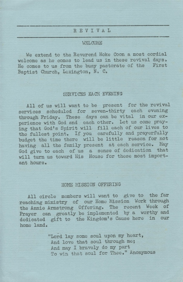 doc church bulletin 1964 3