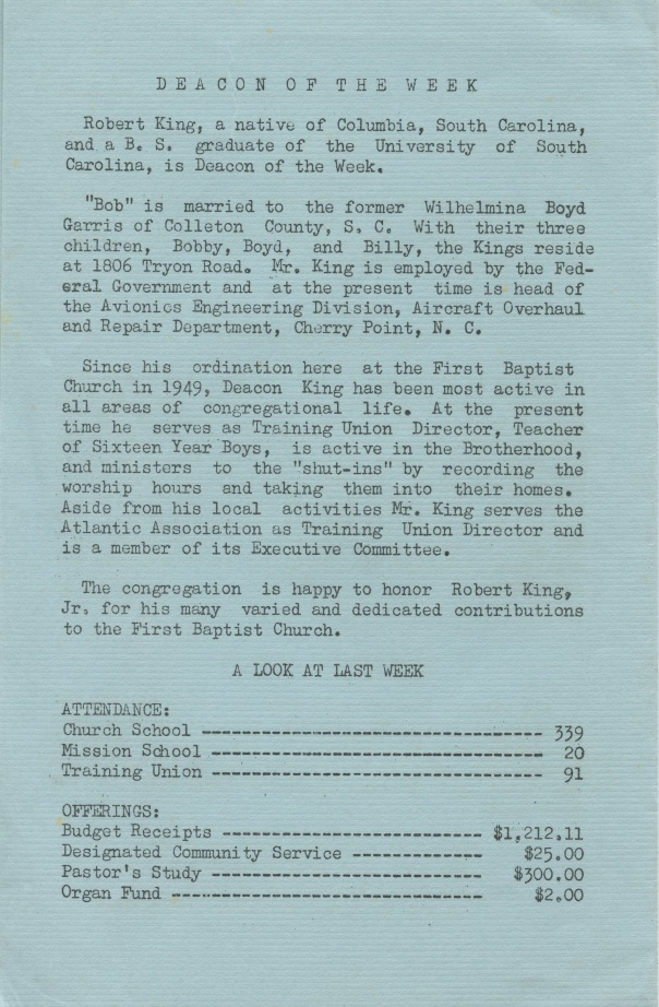 doc church bulletin  1964 4