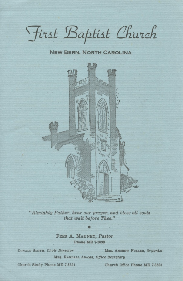 doc church bulletin 1964