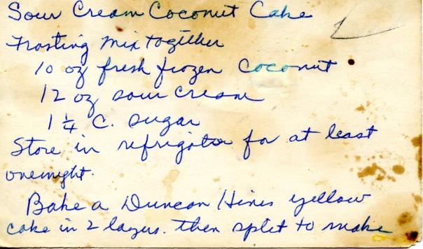 recipe sour cream coconut cake
