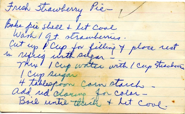 recipe strawberry pie