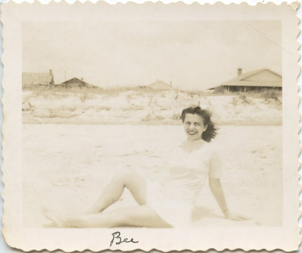 beach grandma in white suite 1930s lighter version