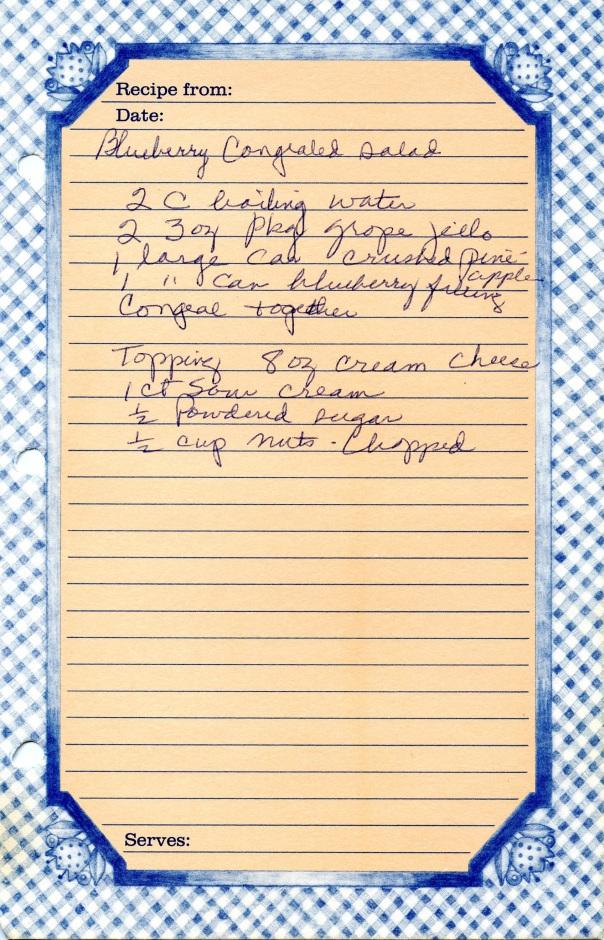 recipe blueberry congealed salad 2