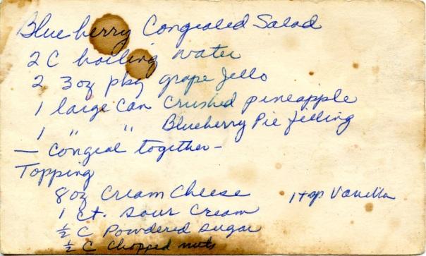 recipe blueberry congealed salad