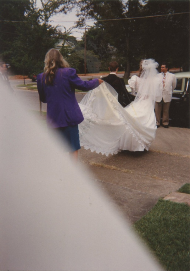 mary wedding leaving church mistake photo