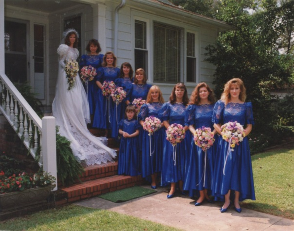 mary wedding with bridesmaids michaela