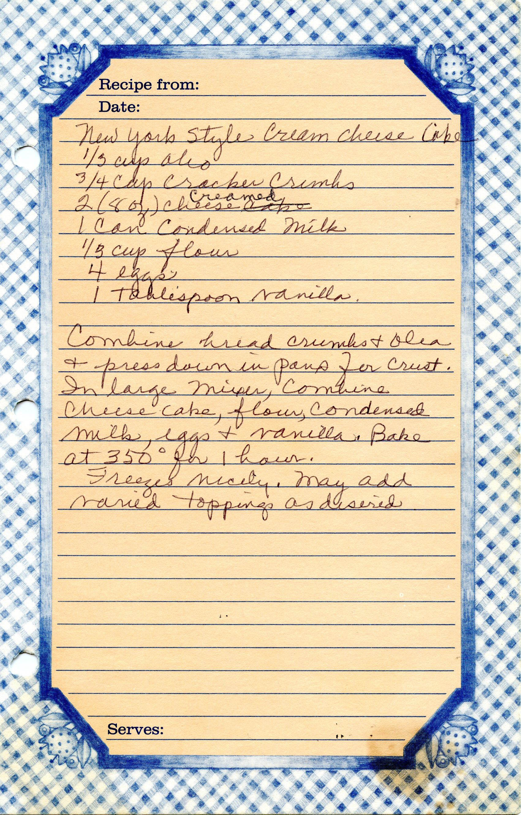 Top And note that, unlike Creamy Baked Cheesecake , this recipe omits sour  1701 x 2662 · 4682 kB · jpeg