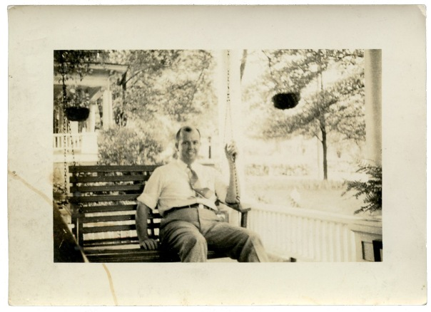 howard garris on porch