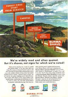 burma shave magazine ad
