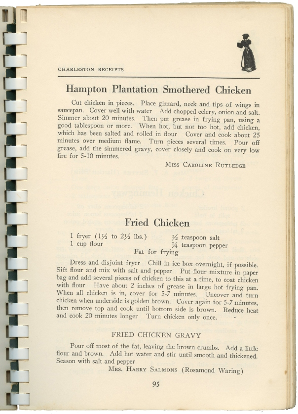 recipe fried chicken charleston receipts