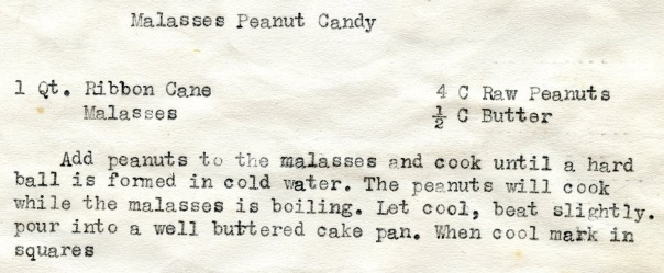 recipe floy malasses peanut candy CROPPED