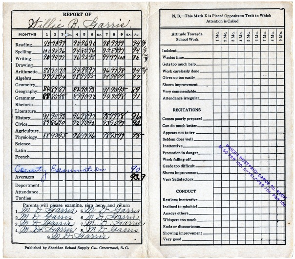 report card 1931 (3)