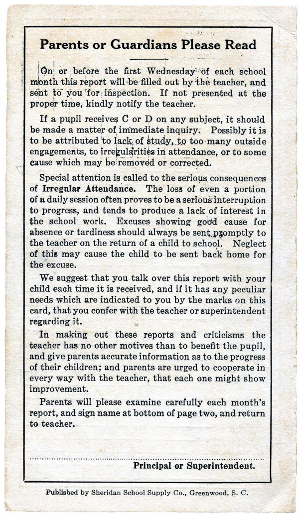 report card 1931 3