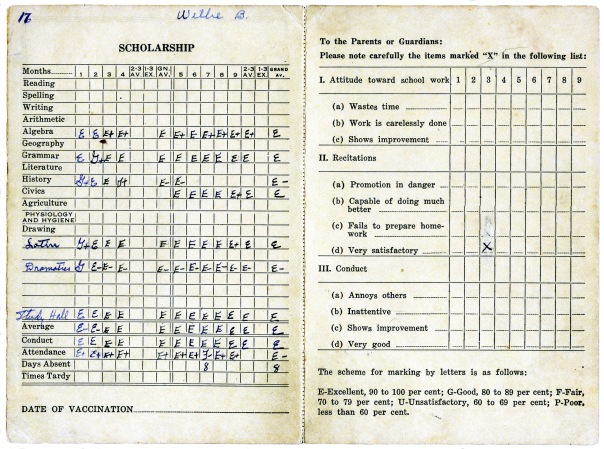 report card 1932 2